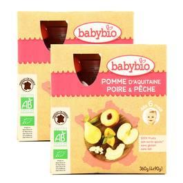 Babybio Pomme d'Aquitaine Poire & Pêche, bio dès 6 mois