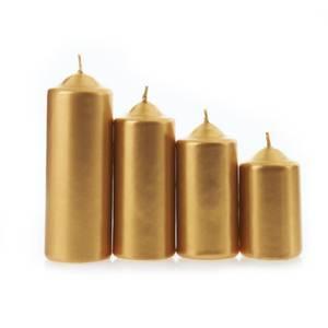 Devineau Set de 4 bougies de l'Avent or