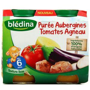 Blédina Purée d'aubergines tomates agneau