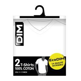 Dim 2 T-Shirts EcoDim Blanc Col V
