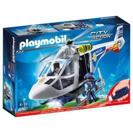 PLAYMOBIL® City Action Hélicoptère de police avec projecteur
