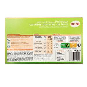 Cora 8 Palets de légumes- Poireaux, carottes et pommes de terre