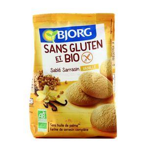 Bjorg Sablé sarrasin vanille bio et sans gluten