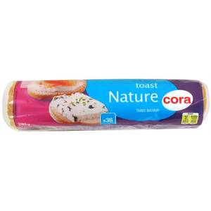 Cora Toast rond nature, 280g