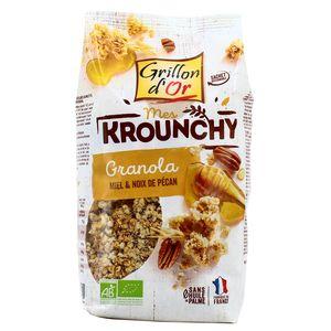 Grillon Or Céréales krounchy granola miel et noix de pécan bio