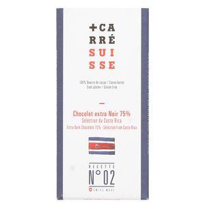 Carré Suisse Chocolat extra Noir 75% - Sélection du Costa Rica - N°02