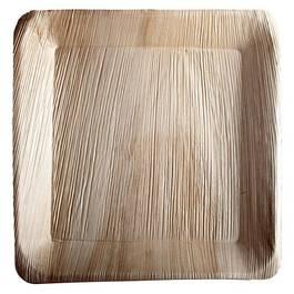 Assiettes carrées en feuille de palmier 24x24cm,,