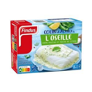Findus 2 Colins MSC d'Alaska à l'oseille crème fraiche et touche de citron de Sicile qualité 100% filet