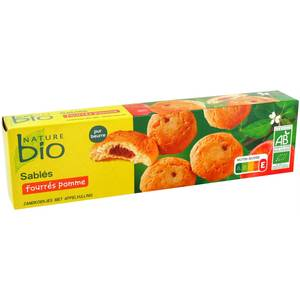 Nature Bio Sablés au beurre coeur de pomme bio