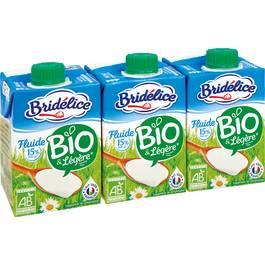Bridélice Crème bio fluide légère 15% M.G