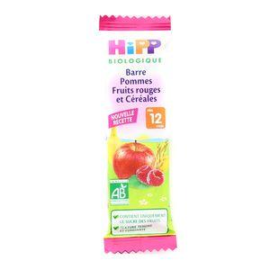 Hipp Barre Pommes Fruits rouges et Céréales bio dès 12 mois