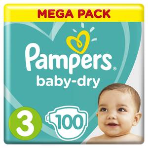 Pampers Babydry Couches T3 - 6/10kg - Format Mega
