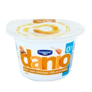 Spécialité laitière sucrée sur lit de miel DANIO, 0%MG, 150g
