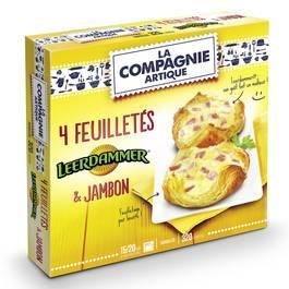 La Compagnie Artique 4 Paniers feuilletés Leerdamer et jambon 4x80g