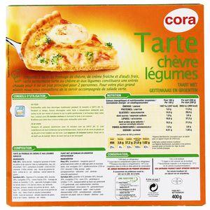 Cora Tarte Légumes et chèvre