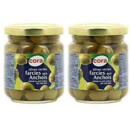 Cora Olives vertes farcies aux anchois