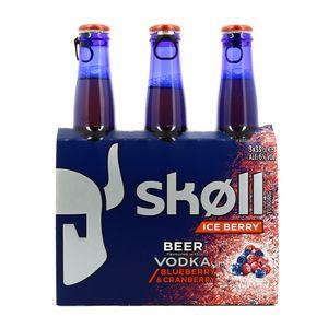 Tuborg Skoll Bière aromatisée à la vodka-cranberry et myrtille