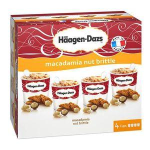 haagen dazs 4 mini pots cr 232 me glac 233 e macadamia nut brittle 4x100ml 4x87g houra fr