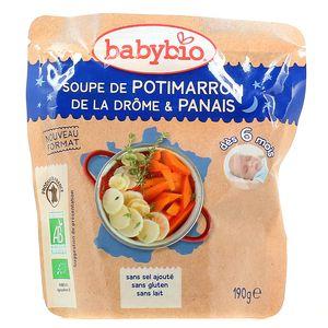 Babybio Soupe de Potimarron de la Drôme & Panais bio, dès 6 mois