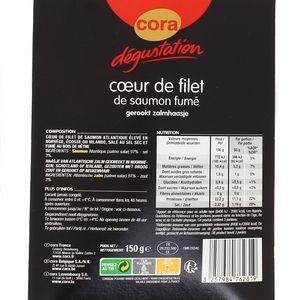 Cora Dégustation Coeur de Filet de Saumon Fumé