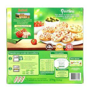 Buitoni Piccolinis 9 Mini pizzas au thon 9x30g