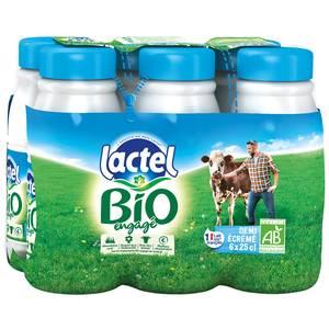 Lactel Lait Bio 1/2 écrémé