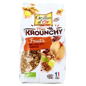 Grillon Or Céréales krounchy aux fruits bio