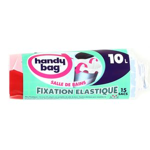 handy bag sacs poubelle 10l salle de bains 20 sacs. Black Bedroom Furniture Sets. Home Design Ideas