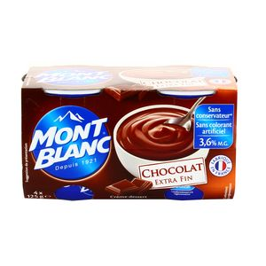 mont blanc cr me dessert chocolat extra fin 4x125g. Black Bedroom Furniture Sets. Home Design Ideas