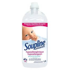 Soupline, Adoucissant concentré au lait d'amande douce 54 lavages, le flacon de 1,5 l