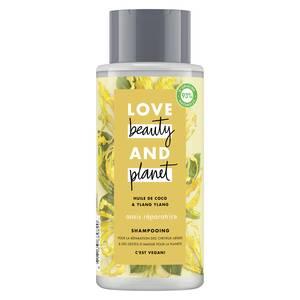 Love Beauty and Planet Shampooing oasis réparatrice infusé à l'huile de coco bio et Fleur d'Ylang-Ylang