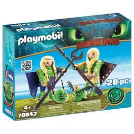 PLAYMOBIL® Dragons Kranedur et Kognedur en combinaison de vol