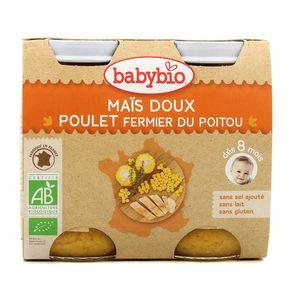 Babybio Maïs doux et poulet fermier du Poitou Bio, dès 8 mois