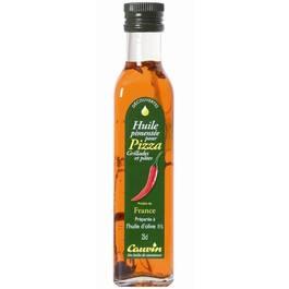 Cauvin Huile pimentée pour pizza, grillades et pâtes