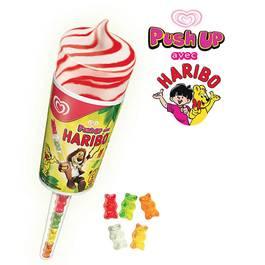 Haribo Push up vanille et fraise et bonbons gélifiés 85ml