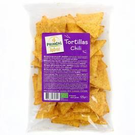 Priméal Tortillas Chili – Chips de maïs bio au chili