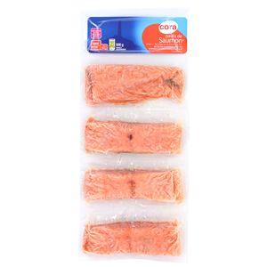 Cora 4 pavés de saumon sans arête, sans peau 4x125g