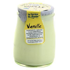 La Ferme du manège Yaourt Vanille au lait entier