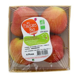 Les Paysans Bio Pomme bicolore bio