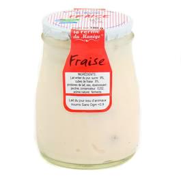 La Ferme du manège Yaourt Fraise au lait entier