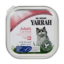 Yarrah Paté bio saumon/crevette pour chat adulte
