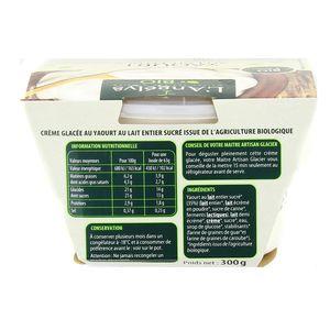 L'Angelys Crème glacée Yaourt au lait entier BIO 500ml