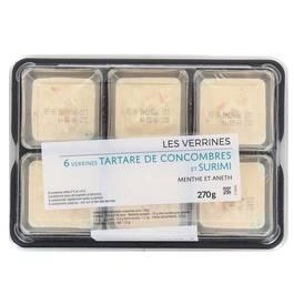 Mix Buffet Verrine tartare de concombre et surimi