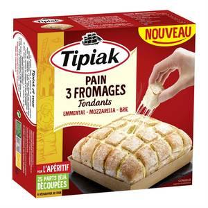 Tipiak Pain aux 3 fromages - Emmental, Mozzarella, Brie- 25 parts