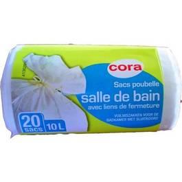 cora sacs poubelle 10l salle de bains 20 sacs. Black Bedroom Furniture Sets. Home Design Ideas