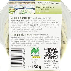 BioVerde Salade de harengs à l'aneth bio