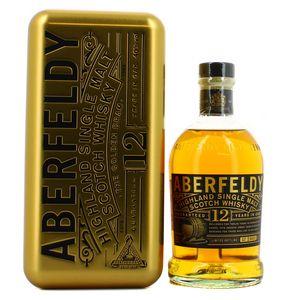 Aberfeldy Scotch whisky single highland malt 12 ans étui métal