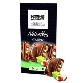 Nestle, Grand chocolat noir noisettes entieres, la tablette de 200 gr
