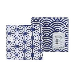 Tokyo Design Studio Serviettes en papier Nippon Blue StarWave 33 x 33 cm