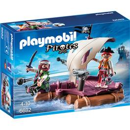 PLAYMOBIL® Pirates Radeau avec pirates des ténèbres